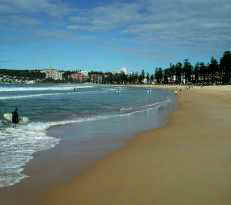 From the desert to the ocean! Manly beach in Sydney, NSW