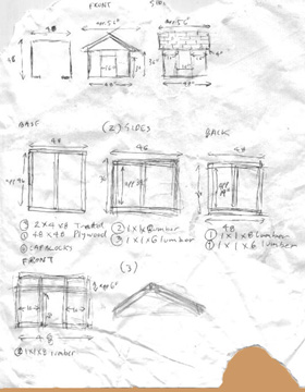 Doghouse Construction Guide Rough Plans