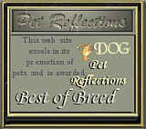 Pet Reflections Best of Breed Site of the Month for August 2000