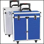 Aluminum Tool Case with Telescoping Handle and Wheels Provide Easy Portability from Pet Edge USA