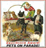 Pets on Parade Excellence Award