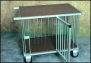 1 berth JUMBO trolley 90 x 71 x87 high. Weight 16kg. - from Dog Show Equipment, Sydney, NSW - Retails for approximately Aust$515