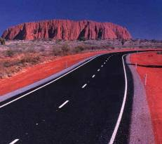 Road into Ayers Rock, Northern Territory